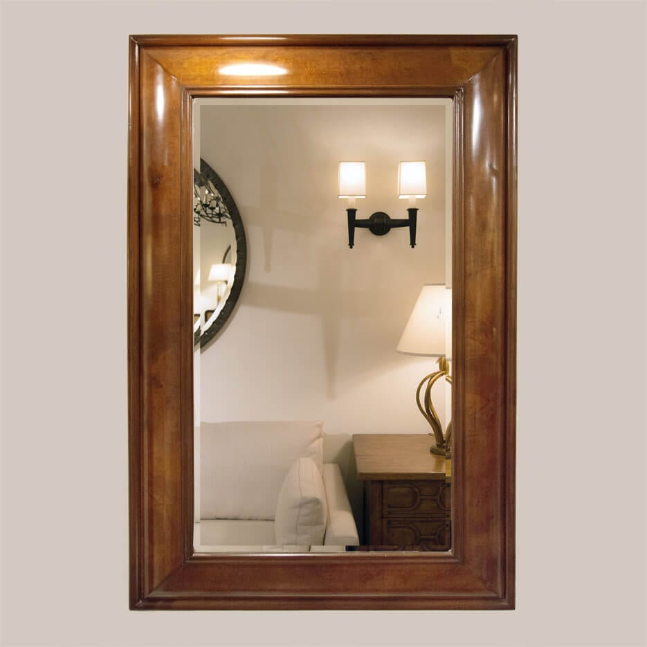 5016 Burlwood Mirror With Bevel