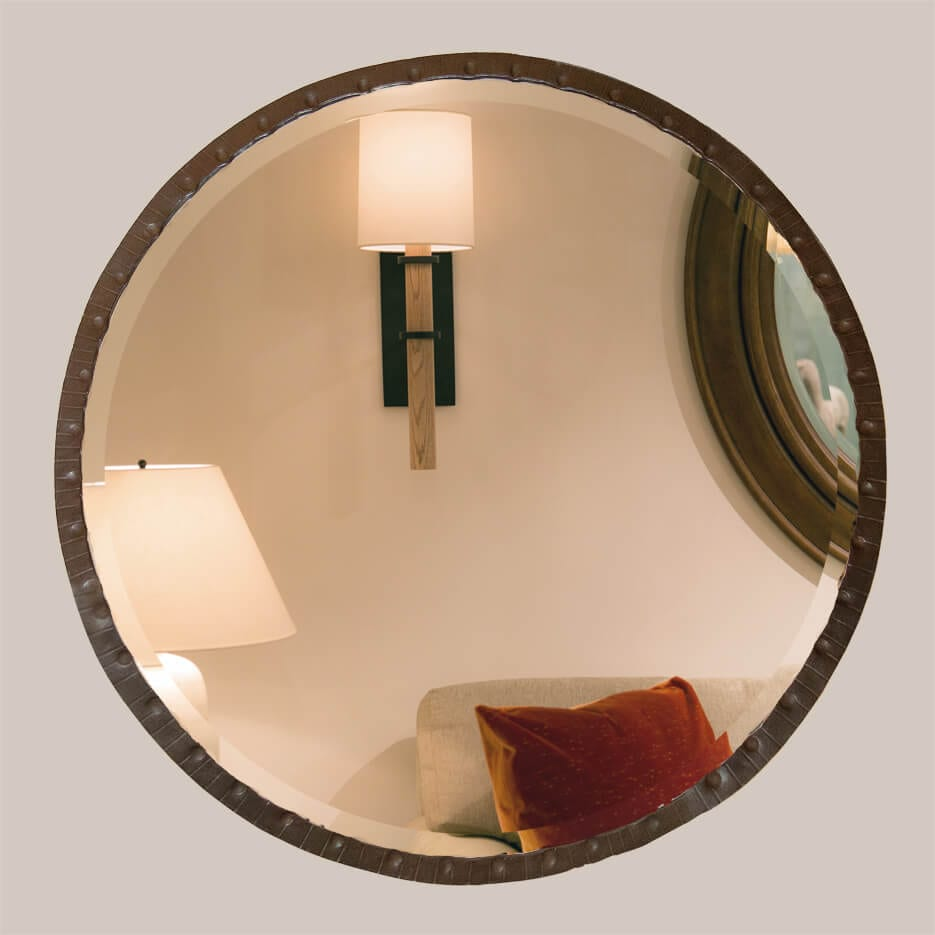 5021-R Large Round Thumbprint Mirror