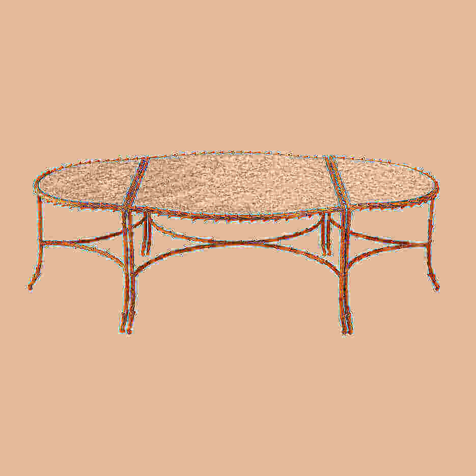 6092-C Three Part Peck Coffee Table