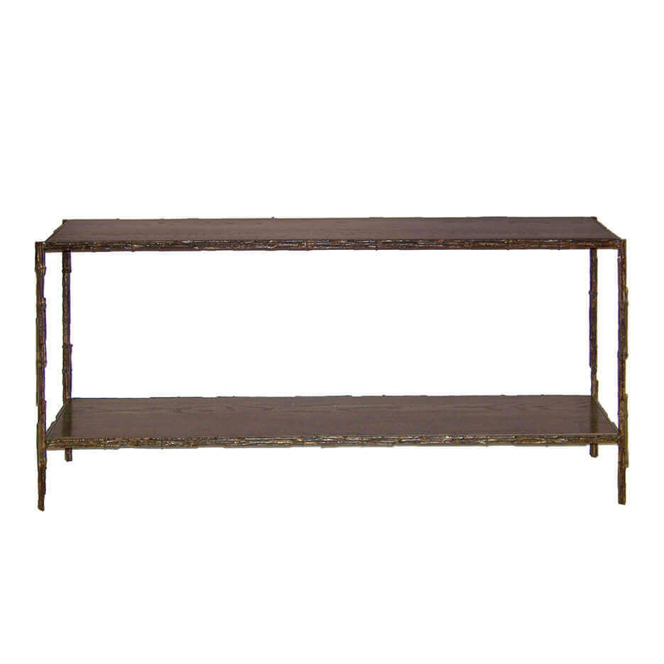 6063 D Bamboo Console Table