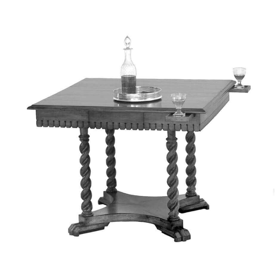 6080 Scalloped Card Table