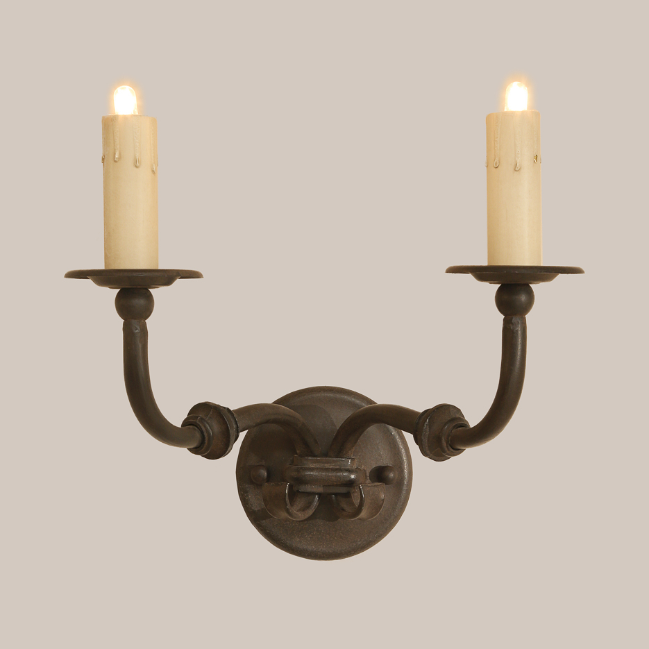 1003-A Two-Arm Knuckle Sconce