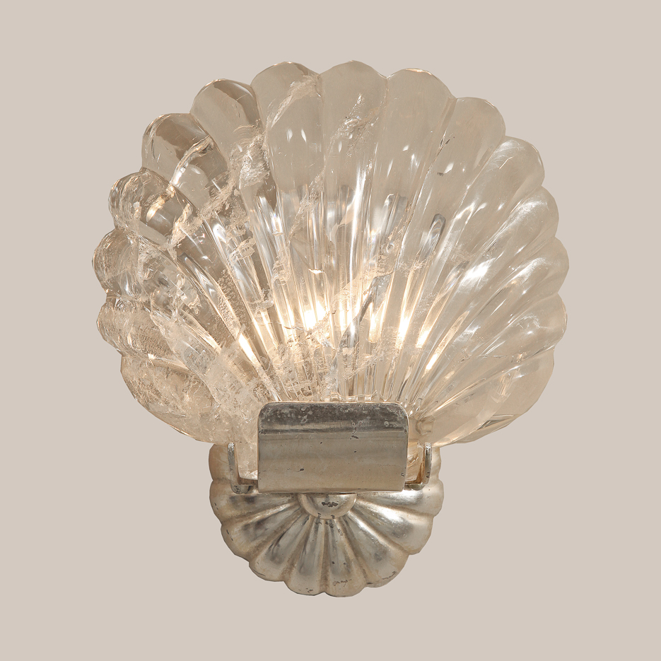 1121 Rock Crystal Shell Sconce
