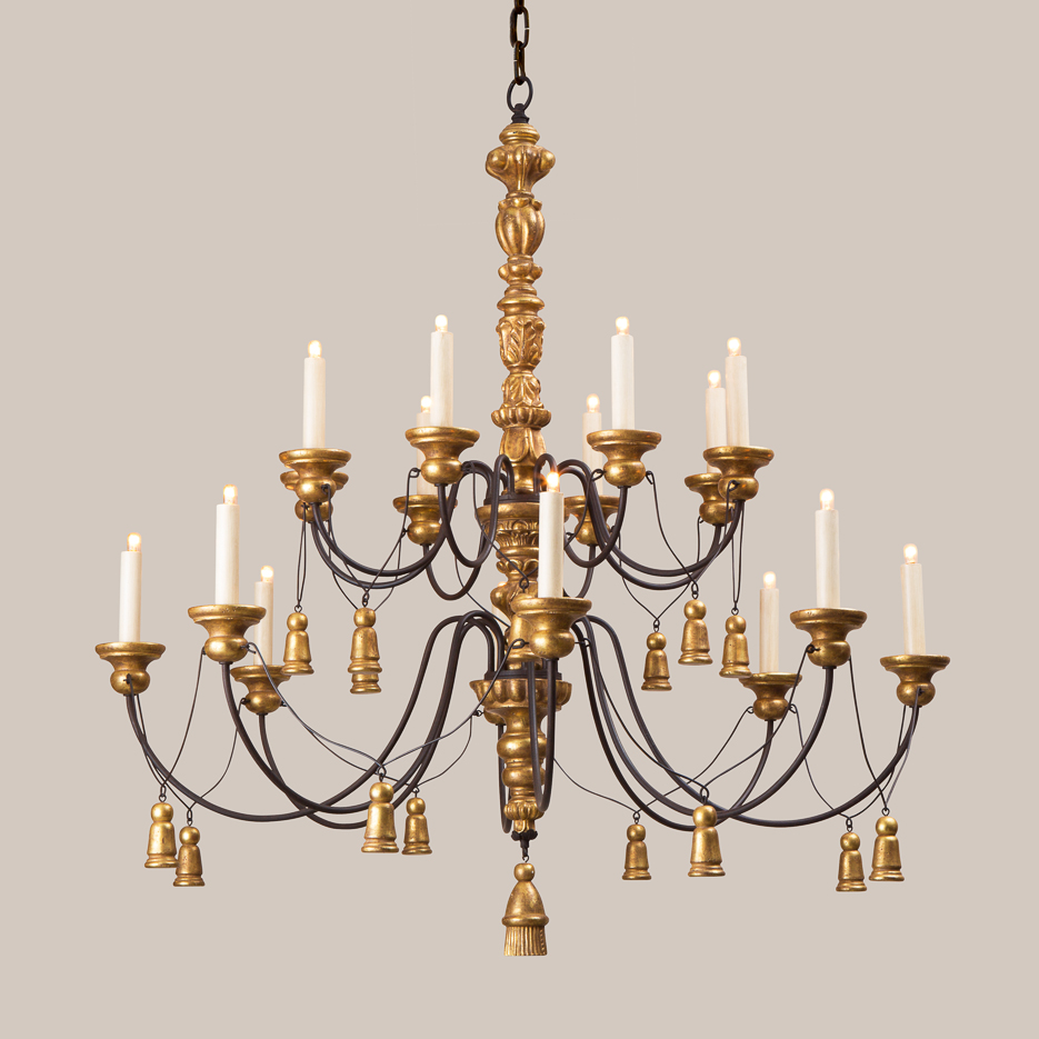 2048-L Large Tassel Chandelier