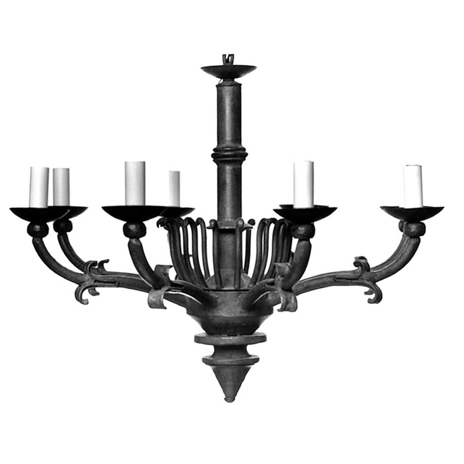 2049-L Large Continental Chandelier