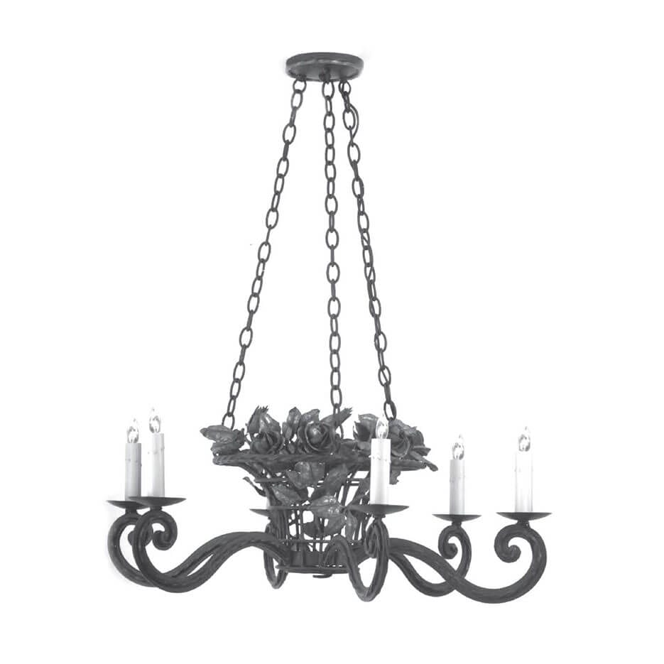 2059  Flower Basket Chandelier