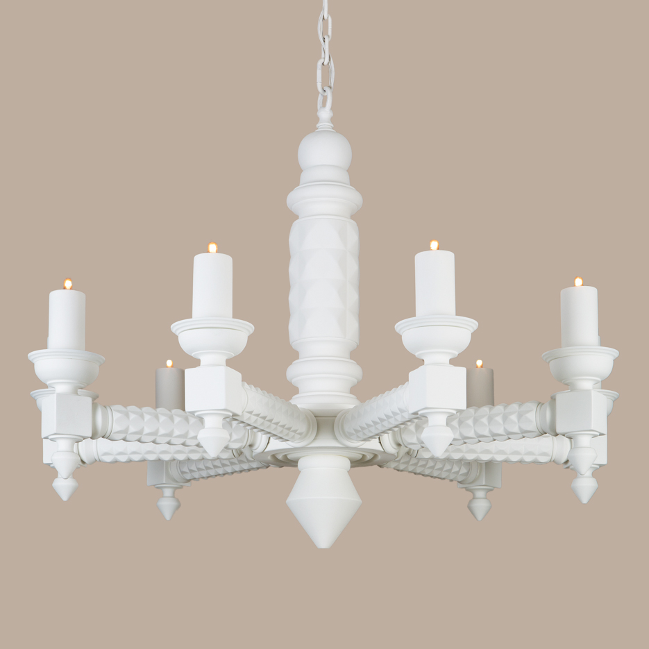 Chandeliers hanging fixtures archives page 4 of 10 paul ferrante 2075 gesso chandelier arubaitofo Images
