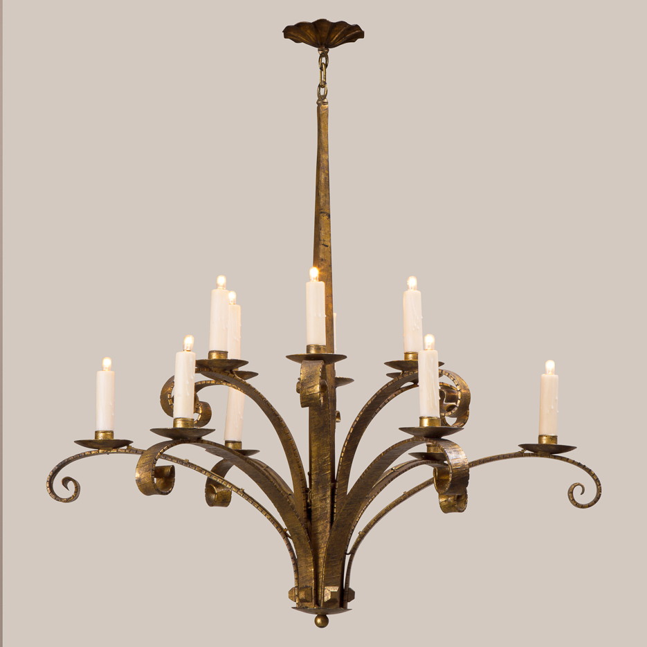 2150-C Two-Tier Iris Chandelier
