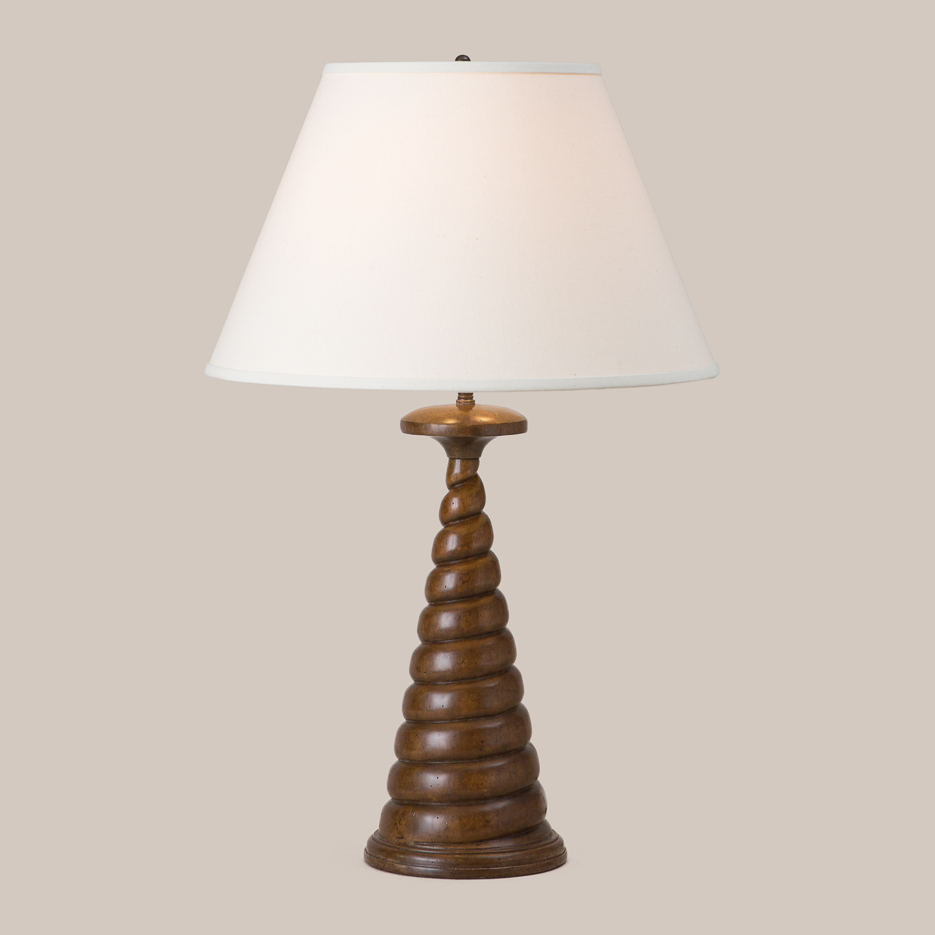 3035 Wood Cork Screw Table Lamp