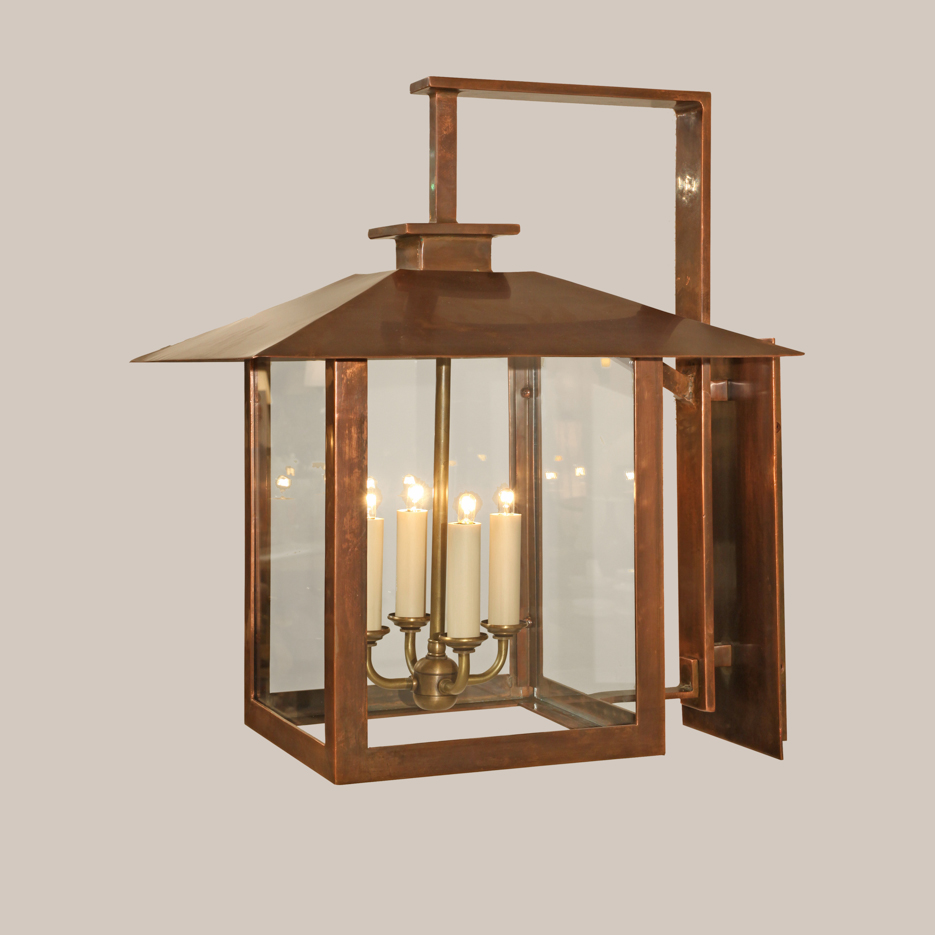 4135-SC Square Copper Coventry Bracketed Lantern
