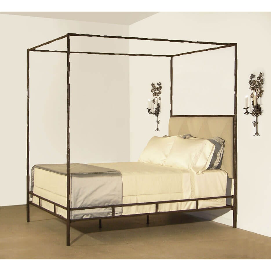 6063-B Bamboo Iron Bed
