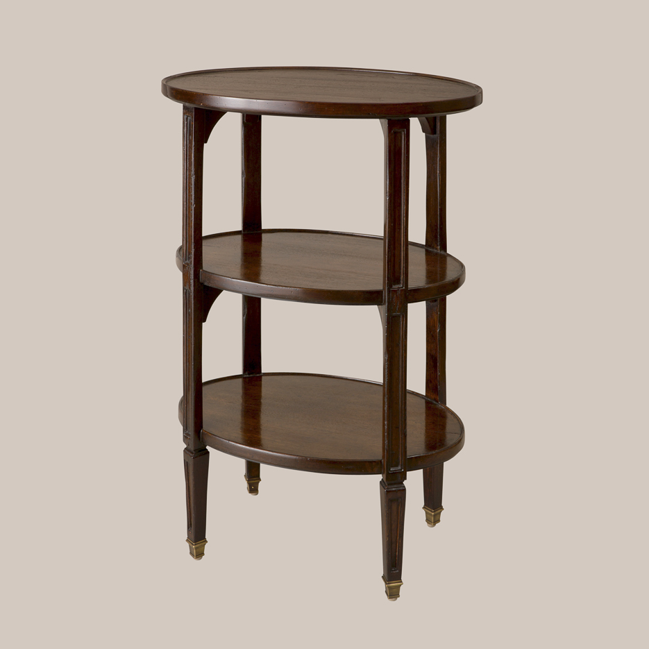 6077-O 3-Tier Oval Etagere Small Size