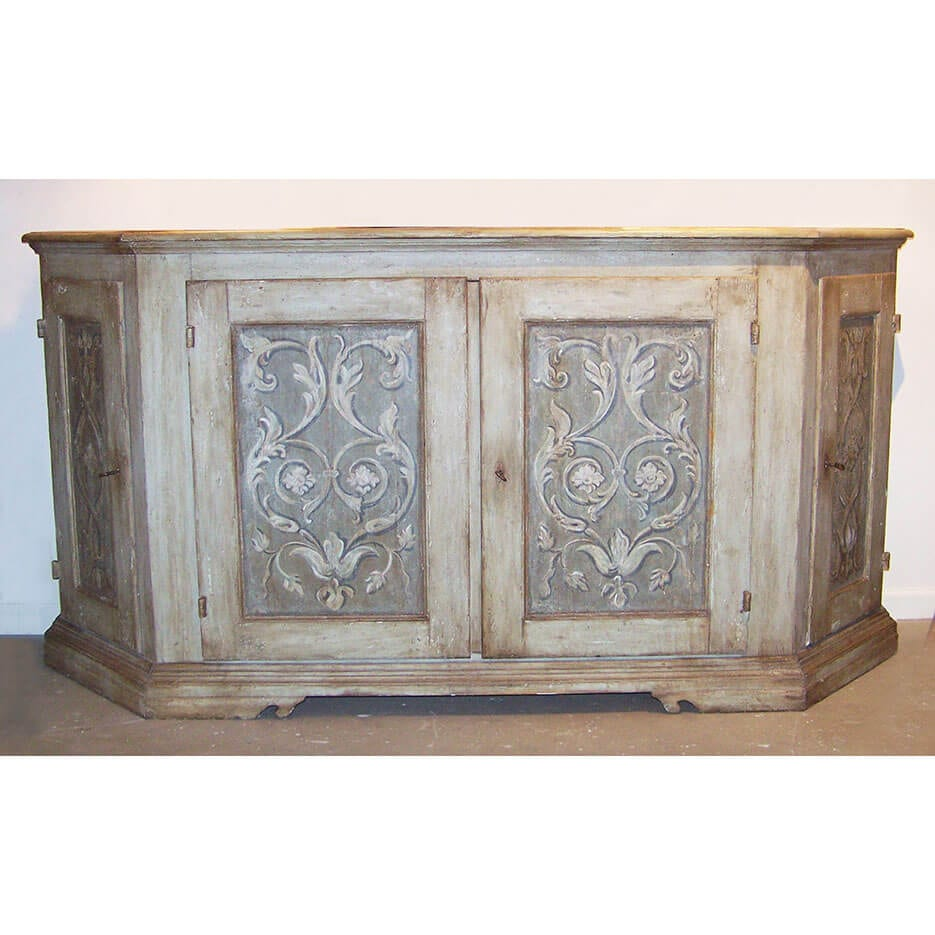 6153 Italian Style Painted Sideboard