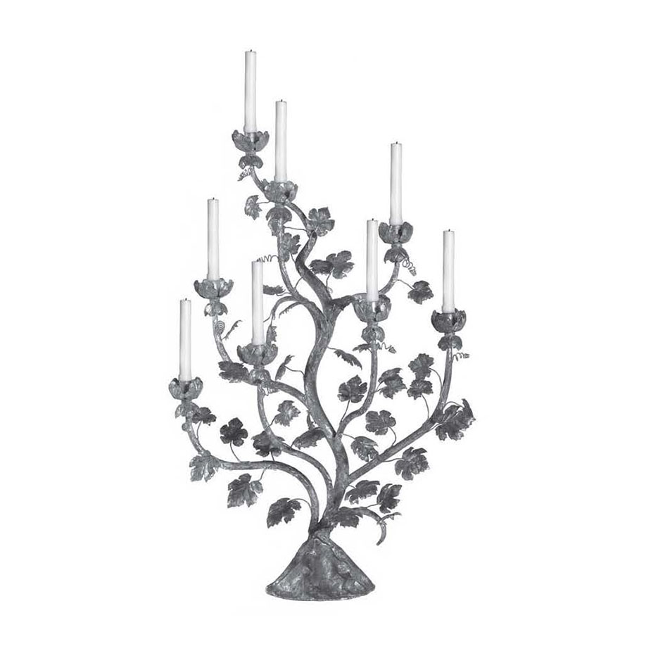 7009 Large Gold Leaf Candelabra
