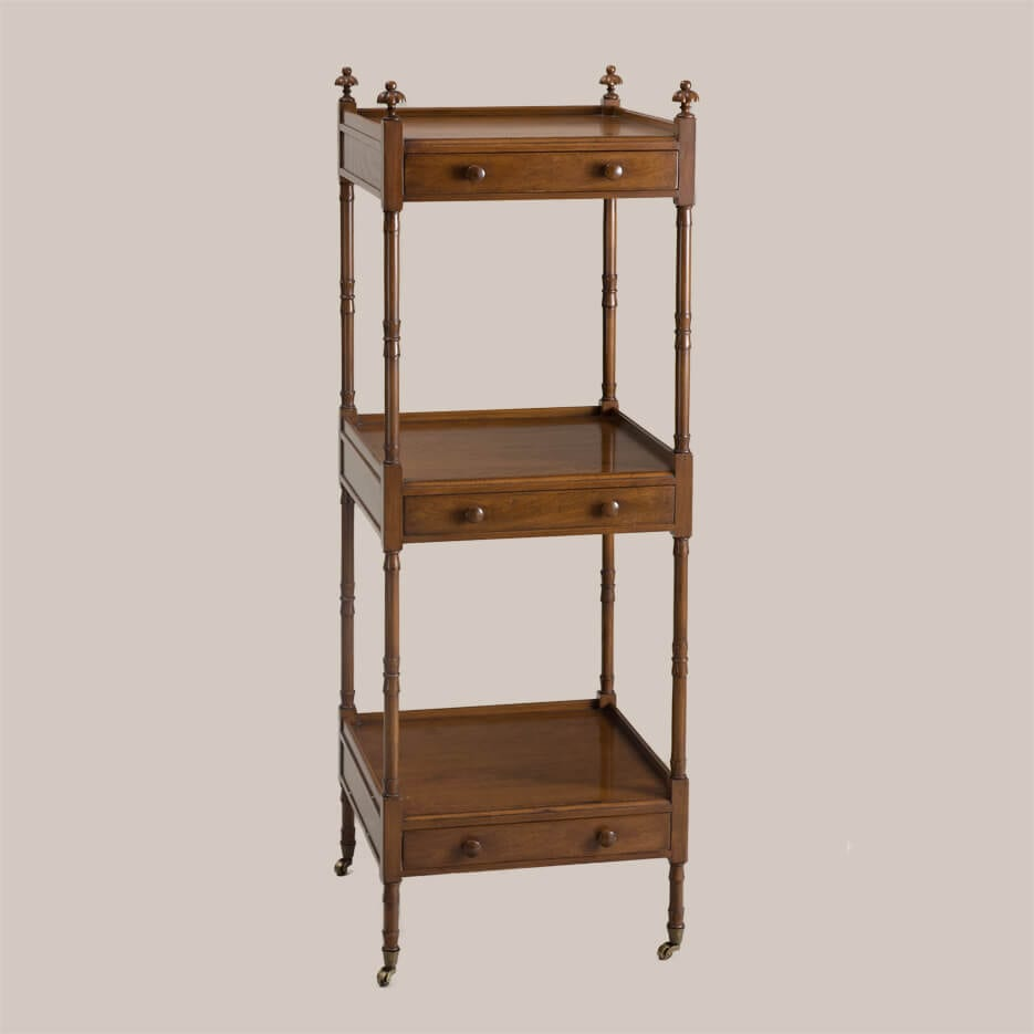 6158 Square 3-Tier Etagere with Drawers